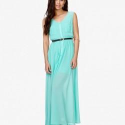 Mint Yeşili Yazlık Elbise Modelleri