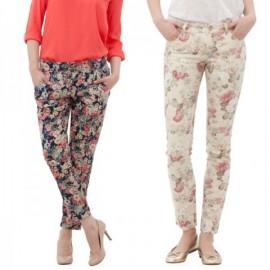 Rengarenk Yeni Çiçekli Pantolon Modelleri