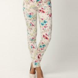Renkli Yeni Çiçekli Pantolon Modelleri