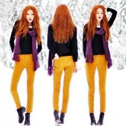SArı 2014 Neon Pantolon Modelleri