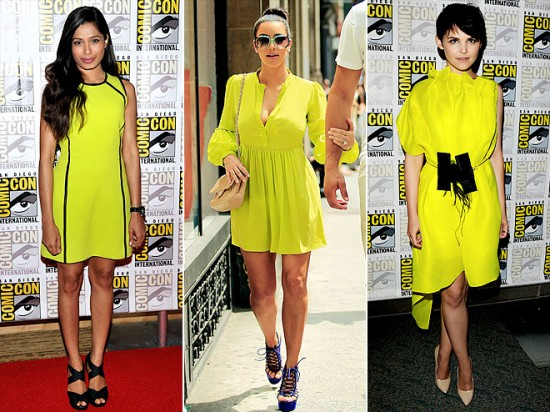 Sarı Neon Elbise Modelleri