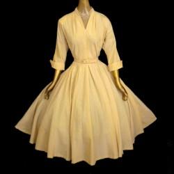Sarı Kloş Abiye Modelleri