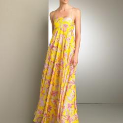Sarı Uzun Elbise Modası