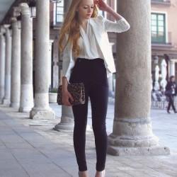 Siyah 2014 Yüksek Bel Pantolon Modası