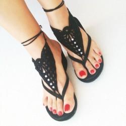 Siyah Sandalet Modelleri