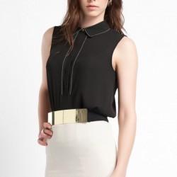 Siyah Yeni Kolsuz Bluz Modelleri