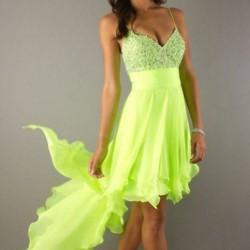 Taşlı Neon Elbise Modelleri