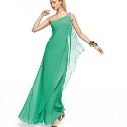 Tek Omuzlu Uzun Elbise Modası