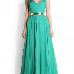 Uzun Mint Yeşili Yazlık Elbise Modelleri