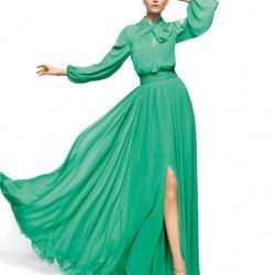 Yırtmaçlı Uzun Elbise Modası