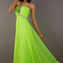 Yeşil Neon Elbise Modelleri