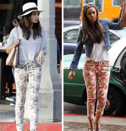 Yeni Çiçekli Pantolon Modelleri