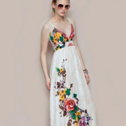 Askılı Batik Yazlık Elbise Modelleri