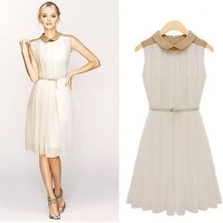 Bebe Yaka Pileli Elbise Modelleri 2014