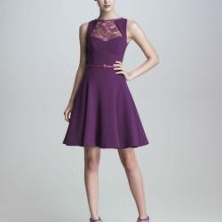 Dantelli Mor Yazlık Elbise Modelleri