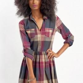 Kareli Yeni Mudo Elbise Modelleri
