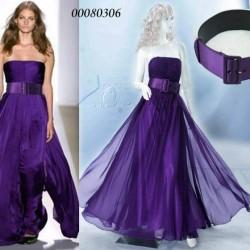 Kemerli Mor Yazlık Elbise Modelleri