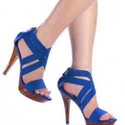 Mavi Bantlı Ayakkabı Modelleri