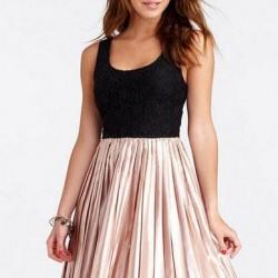 Mini Pileli Elbise Modelleri 2014