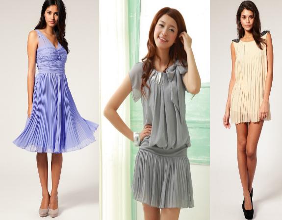 76c82ffcb9eb7 Renkli Pileli Elbise Modelleri 2014