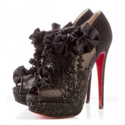 Siyah Yeni Dantelli Ayakkabı Modelleri