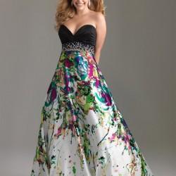 Straplez Batik Yazlık Elbise Modelleri