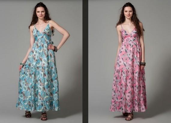 Uzun Batik Yazlık Elbise Modelleri
