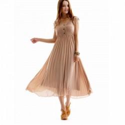 Uzun Pileli Elbise Modelleri 2014
