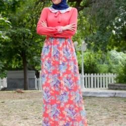 Çiçekli Kurban Bayramı İçin Elbise Modelleri