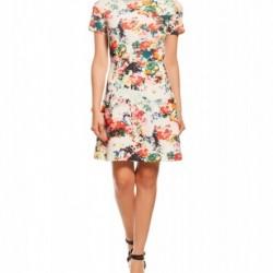 Çiçekli Yeni Sezon Koton Elbise Modelleri