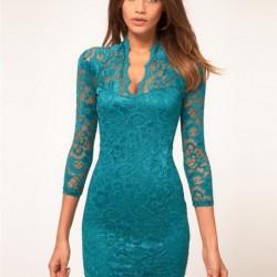 Güpürlü Kurban Bayramı İçin Elbise Modelleri