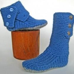 Mavi Kışlık Çorap Modelleri