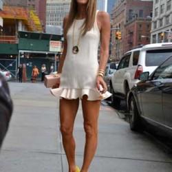 Mini Elbise New York Sokak Modası
