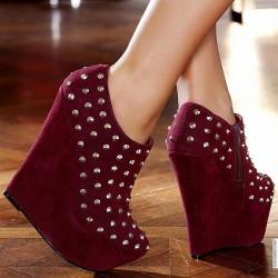 Süet Zımbalı Ayakkabı Modelleri 2014