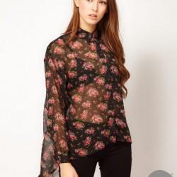 Çiçekli Şifon Bluz Modelleri