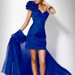 Önü Kısa Mavi Elbise Modelleri