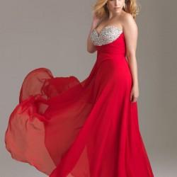 İşlemeli 2015 Kırmızı Abiye Modelleri