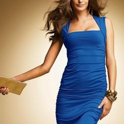 İddialı Mavi Elbise Modelleri