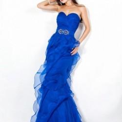 Balık Etek Mavi Elbise Modelleri