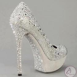 Beyaz 2014 Taşlı Ayakkabı Modelleri