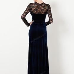 Dantel Detaylı Kadife Elbise Modelleri