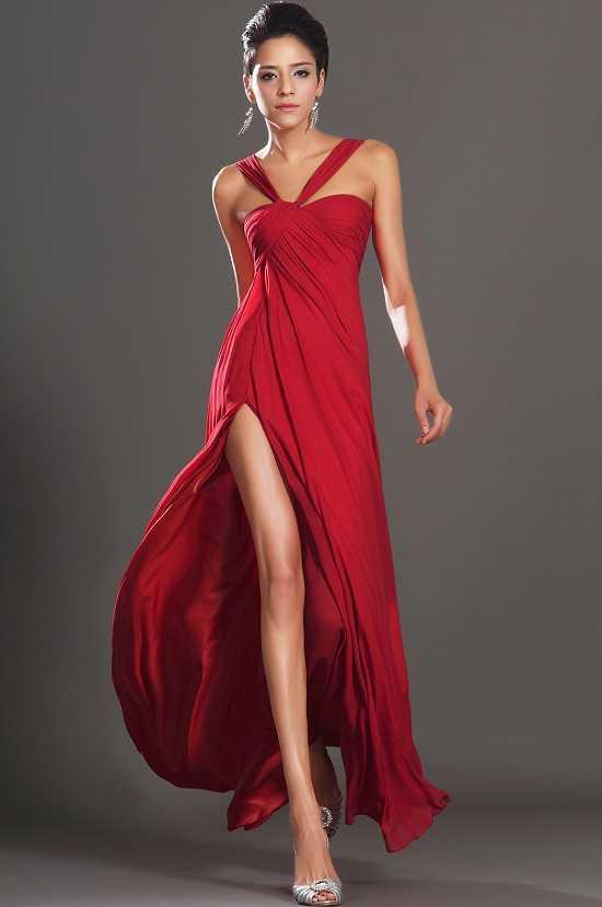 Kırmızı Gece Elbisesi Modelleri