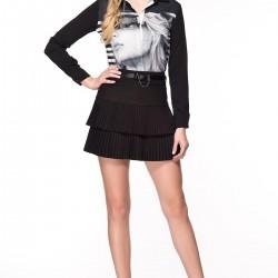 Pileli 2015 Siyah Etek Modelleri