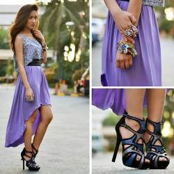 Renkli Yeni Asimetrik Kesim Elbise Modelleri