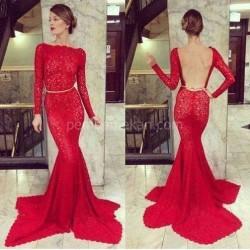Sırt Dekolteli 2015 Kırmızı Abiye Modelleri