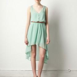 Sade Yeni Asimetrik Kesim Elbise Modelleri