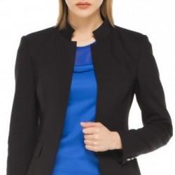 Siyah Hakim Yaka Bayan Ceket Modelleri