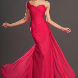 Tül Detaylı 2015 Kırmızı Abiye Modelleri