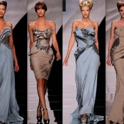 Uzun Drapeli Elbise Modelleri