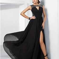 Yırtmaçlı Gece Elbisesi Modelleri